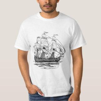 Vintage Pirates Galleon, Sketch of a 74 Gun Ship T-Shirt