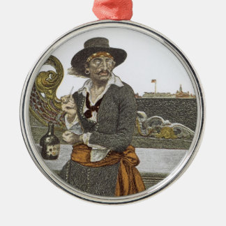 Vintage Pirates, Kidd on Deck of Adventure Galley Christmas Ornament