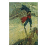 Vintage Pirates; The Flying Dutchman, Howard Pyle Poster