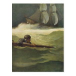 Vintage Pirates, Wreck of the Covenant by NC Wyeth Post Card