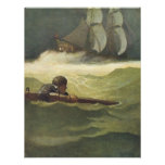 Vintage Pirates; Wreck of the Covenant, NC Wyeth Personalized Announcements