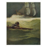 Vintage Pirates; Wreck of the Covenant, NC Wyeth Poster