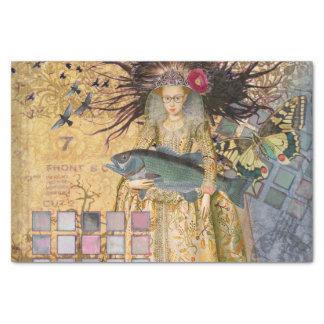 Vintage Pisces Whimsical Renaissance Gothic Fish Tissue Paper