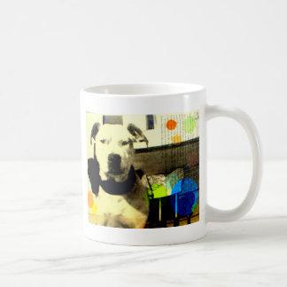 vintage pit bull / amstaff terrier art coffee mug