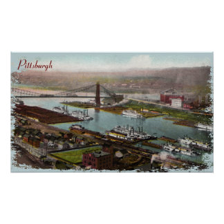 Vintage Pittsburgh 1800s Canvas Print