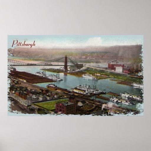 Vintage Pittsburgh 1800s Canvas Print