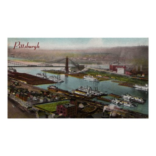 Vintage Pittsburgh 1800s Poster
