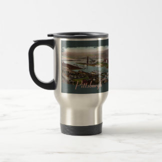 Vintage Pittsburgh 1800s Travel Mug