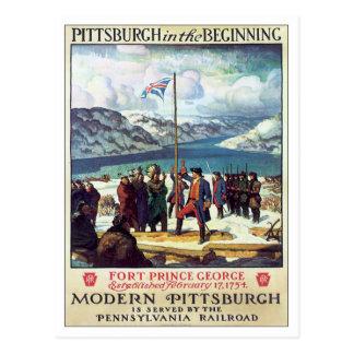 Vintage Pittsburgh In The Beginning Postcard