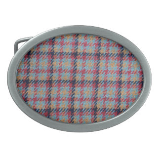 Vintage plaid oval belt buckle