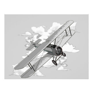 Vintage Plane 21.5 Cm X 28 Cm Flyer