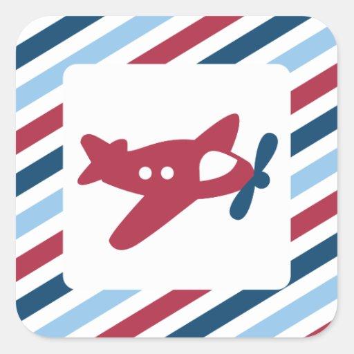Vintage Plane Airmail Stickers