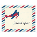 Vintage Plane Airmail Thank you