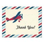 Vintage Plane Airmail Thank you