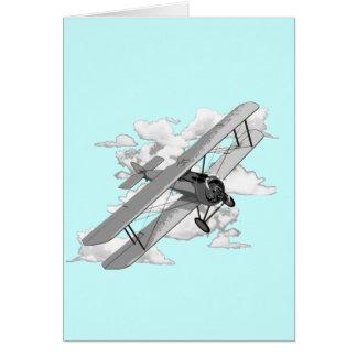 Vintage Plane Card