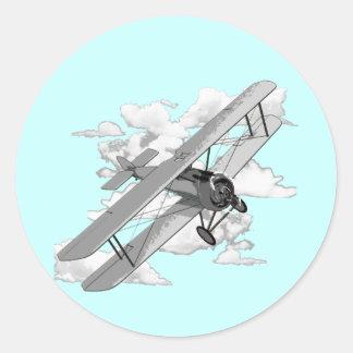Vintage Plane Classic Round Sticker
