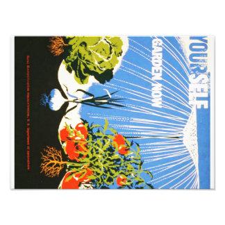 Vintage Plant a Garden Now WPA Poster Photo Print