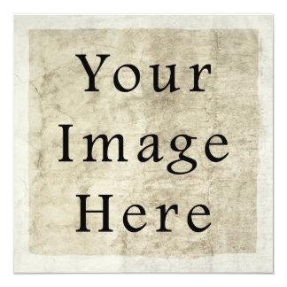 Vintage Plaster Beige Parchment Paper Background 13 Cm X 13 Cm Square Invitation Card