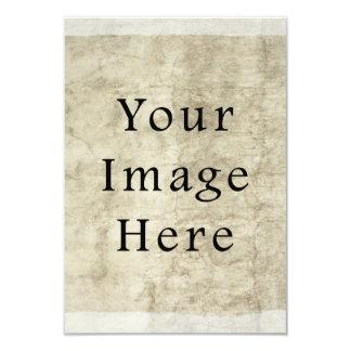Vintage Plaster Beige Parchment Paper Background 9 Cm X 13 Cm Invitation Card