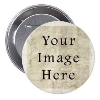 Vintage Plaster Beige Parchment Paper Background Pinback Buttons