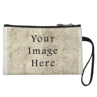 Vintage Plaster Beige Parchment Paper Background Wristlet Purse