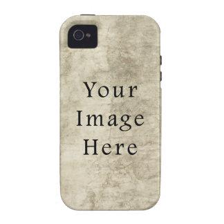 Vintage Plaster Beige Parchment Paper Background Case-Mate iPhone 4 Cover