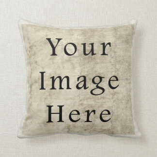 Vintage Plaster Beige Parchment Paper Background Throw Pillows