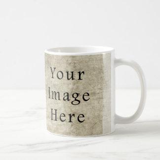 Vintage Plaster Beige Parchment Paper Background Coffee Mug