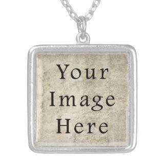 Vintage Plaster Beige Parchment Paper Background Necklace