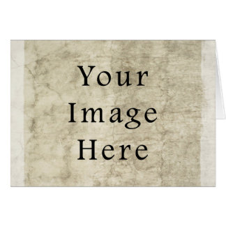 Vintage Plaster Beige Parchment Paper Background Note Card