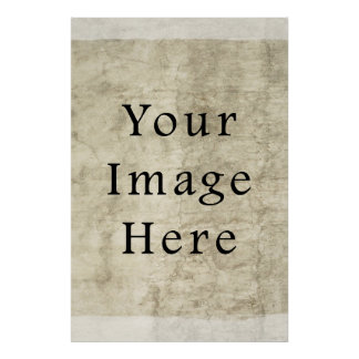 Vintage Plaster Beige Parchment Paper Background Poster