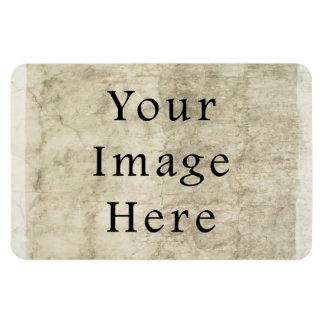 Vintage Plaster Beige Parchment Paper Background Rectangular Photo Magnet