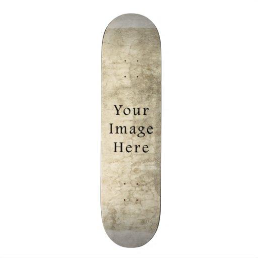 Vintage Plaster Beige Parchment Paper Background Skate Board Decks