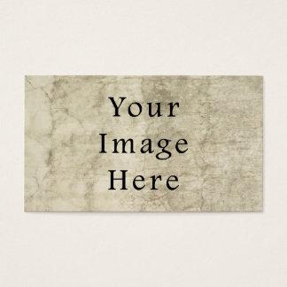 Vintage Plaster Brown Beige Tan Parchment Paper Business Card