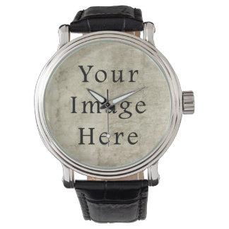 Vintage Plaster Brown Beige Tan Parchment Paper Wristwatches