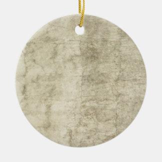 Vintage Plaster or Parchment Background Customized Round Ceramic Decoration