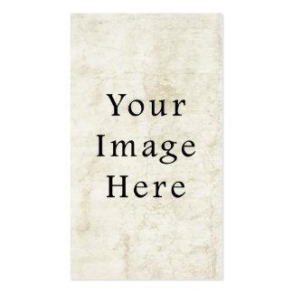 Vintage Plaster White Parchment Paper Background Business Card Templates