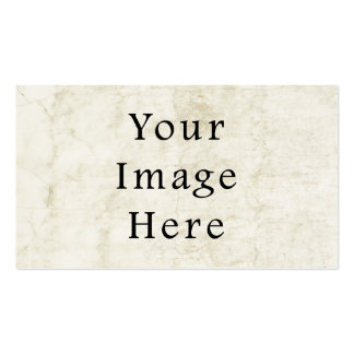 Vintage Plaster White Parchment Paper Background Business Card Template