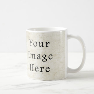 Vintage Plaster White Parchment Paper Background Coffee Mugs