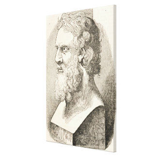 Vintage Plato The Philosopher Illustration Canvas Print