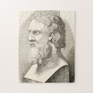 Vintage Plato The Philosopher Illustration Jigsaw Puzzle