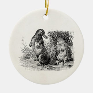 Vintage Platypus Porcupine Anteater Template Christmas Ornament
