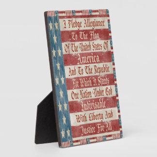 Vintage Pledge of Allegiance Plaque