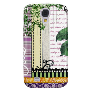 Vintage Plums Fruit Collage Galaxy S4 Case