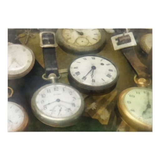 Vintage Pocket Watches Personalized Announcement