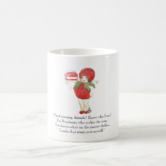 Vintage Poem Raspberry Cute Kids Red Fruit Drawing Coffee Mug