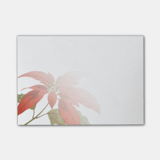 Vintage Poinsettia Christmas Post-it Notes
