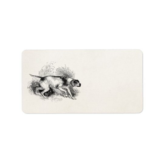 Vintage Pointer Hunting Dog 1800s Pointers Dogs Label