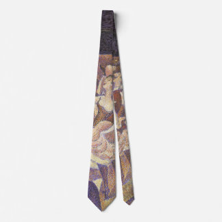 Vintage Pointillism, The Can Can Dance by Seurat Tie