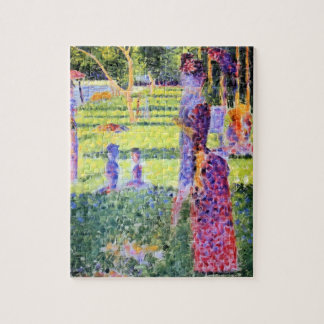 Vintage Pointillism, The Couple by Georges Seurat Puzzle